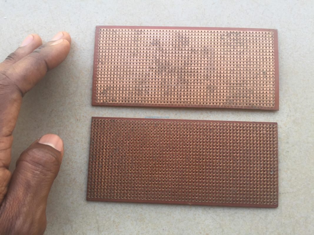 Strip and perforated copper boards (Veroboard)