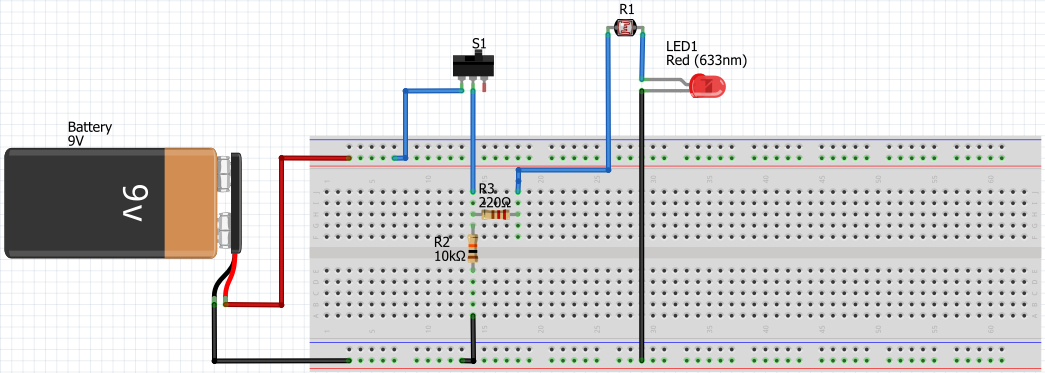 A simple light intensity tracking circuit