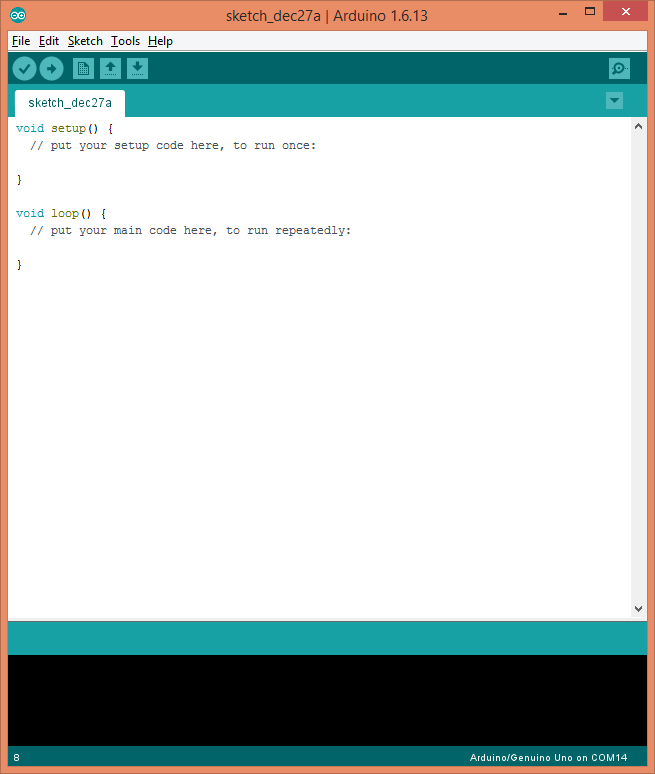 Arduino IDE bare minimum sketch