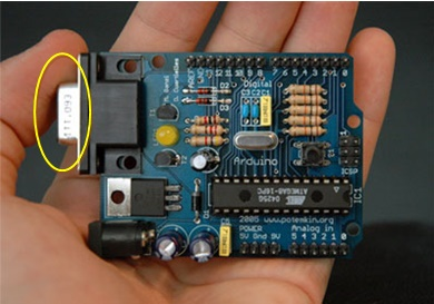 Arduino Board having the RS232 DB9 Serial Port