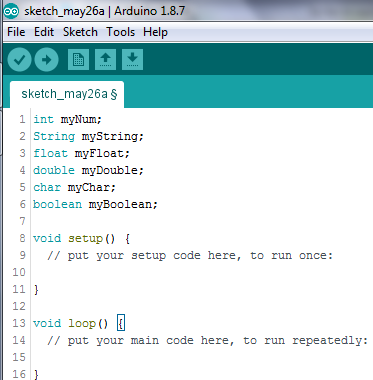 Simple variable declarations in arduino programming