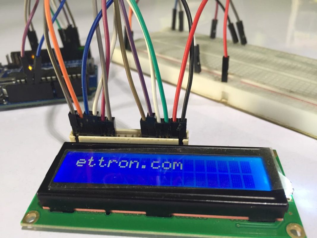 Arduino with LCD Display Connection