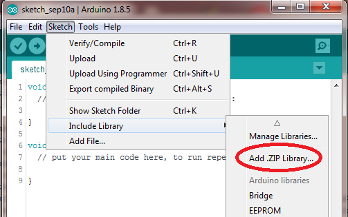 Installing Arduino Library Using Add.ZIP Library in the Arduino IDE 1