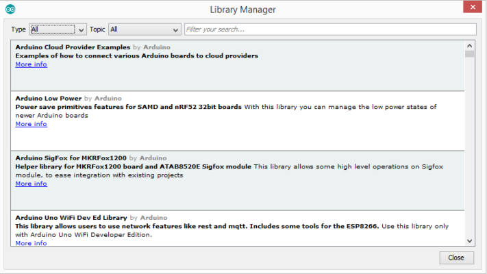 Installing Arduino Library Using the Library manager 2
