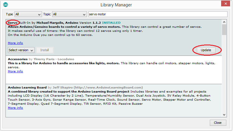 Installing Arduino Library Using the Library manager 4