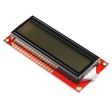Red colour 16x2 LCD display