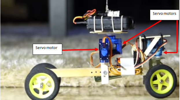 RC car built with servo motors