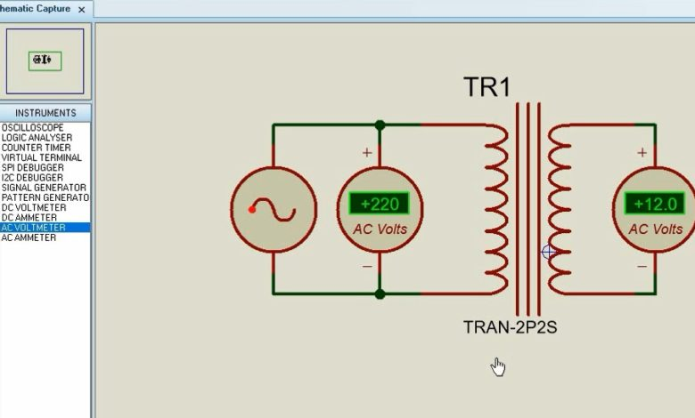 Photo of How to Simulate AC voltage Step-Down transformer with Proteus