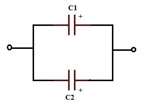 2 capacitors connected in parallel