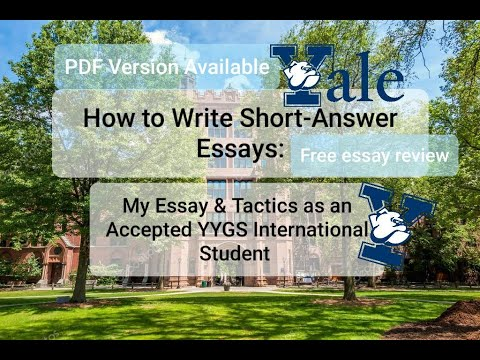 How to Write Short-Answer Essays - Essay and Tactics for YYGS International Student