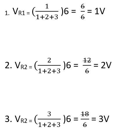 voltage divider calculation