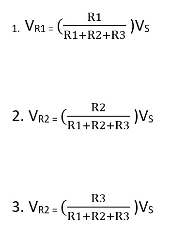 voltage divider calculation formula