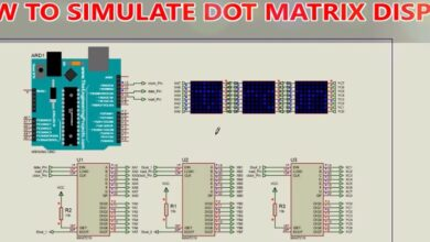 Photo of How to simulate digital scrolling text display (DMD) in Proteus with MAX7219 and Arduino.