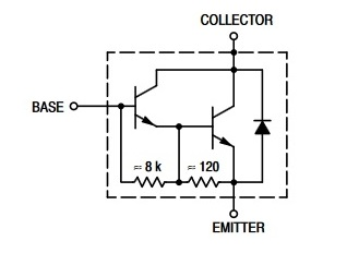 equivalent circuit of tip120 tramsistor