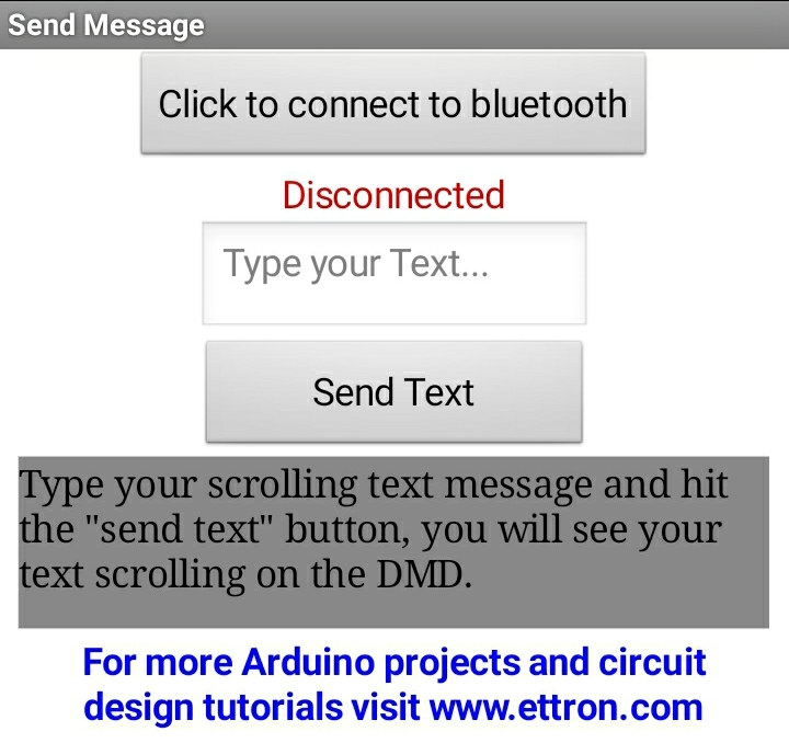 app to control scrolling text via bluetooth