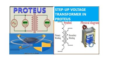Photo of Step up transformer simulation in Proteus