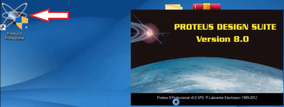 Opening Proteus 8 professional